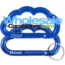Cloud Shaped Carabiner Keychains With Custom Laser Engraving