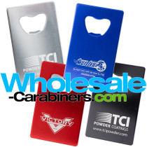 Aluminum Credit Card Bottle Openers with Custom Laser Engravings