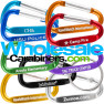 Carabiner Keychains 2-inch (50mm) - Bright Anodized Aluminum Colors