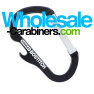 Carabiner with built-in bottle opener and custom engraving - Black