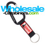 Customized PVC Strap Plus Engraved Black Carabiner Keychains