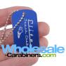 Custom Engraved Dog Tags - Blue Tag with Unique Logo Artwork