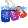 Anodized Aluminum Colored Dog Tags With Custom Engravings - Blue, Purple, Red