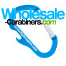 Carabiner & Bottle Opener Combo Keychain - Aqua Colored Aluminum