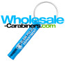 Laser Engraved Keychain Key Siren Safety Whistle - Caribbean Blue