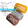 Custom Engraved Dog Tags for Winners: Gold Silver and Bronze Dog Tag Necklaces