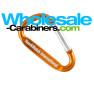 Custom Laser Engraved Orange Carabiners (50mm)