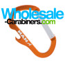 Orange Carabiner Bottle Opener Combo Keychain With Custom Engraving