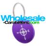 Medallion Dog Tags - Round Custom Engraved Purple Tag