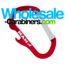 Custom Engraved Aluminum Carabiner Bottle Openers - Red