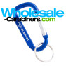 2.5-inch (60mm) Carabiner - Engraved Keychain - Blue