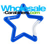 Carabiners Shaped Like A Star in Royal Blue With Custom Engraving
