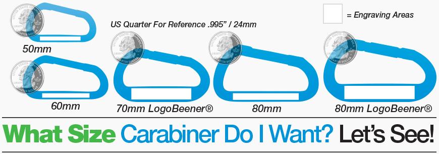 Carabiner Size Diagram