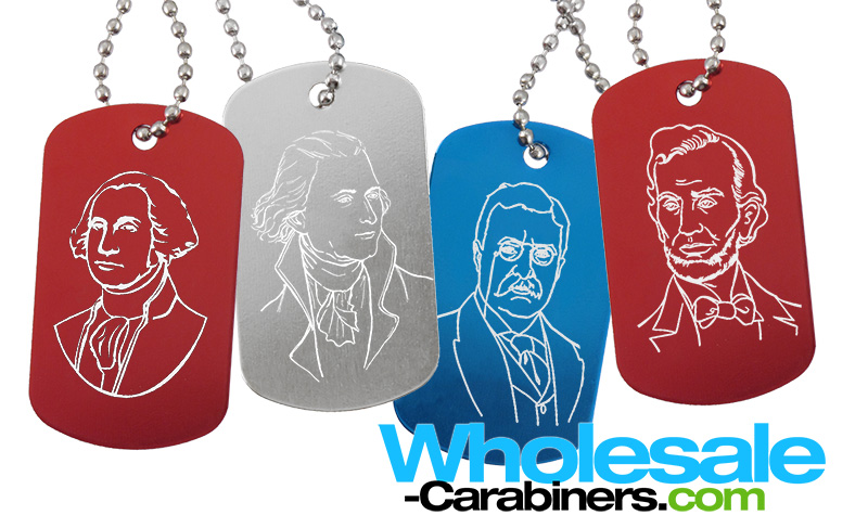 wholesale-carabiners-presidents-day-dog-tags