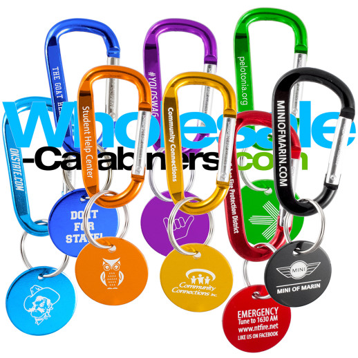 60mm Carabiners with Medallion Tags