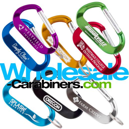 70mm LogoBeener® Carabiner Keychains (2 75