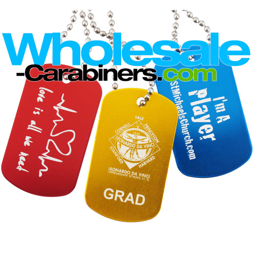 Custom Engraved Dog Tags - Colorful Anodized Aluminum