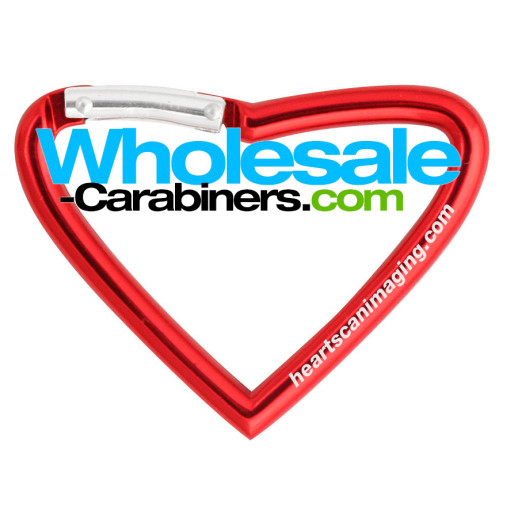 Heart Shaped Carabiner Keychains With Personal Engraving