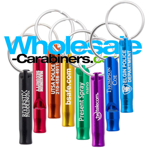Key Siren Safety Whistle Keychains With Customized Engravings