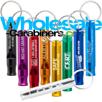 Bobby Whistle Keychains With Custom Laser Engravings