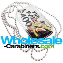 Custom Die Cast Metal Dog Tags With Color Enamel Fill