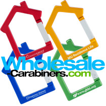House Shaped Carabiner Keychains With Customized Laser Engravings