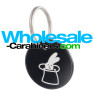 Custom Engraved Dog Tag Round Medallions - Black Tag