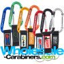 Custom Engraved Carabiner Keychains With Customized PVC Strap Key Ring