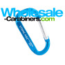 Laser Engraved Carabiner Keychains (2.5 inches) - Caribbean Blue