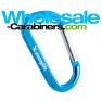 Custom Laser Engraved 3.125-inch Carabiner - Caribbean Blue