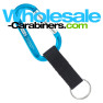 Engraved Carabiner Keychains Plus Nylon Strap Key Ring - Caribbean Blue