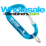 LogoBeener® Laser Engraved Carabiner Keychains - Caribbean Blue