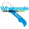Caribbean Blue Bottle Opener Keychain With Custom Engraving