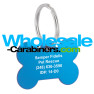 Caribbean Blue Bone Shaped Laser Engraved Dog Tag