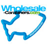 Fish Carabiner Caribbean Blue Keychain - Wholesale-Carabiners.com