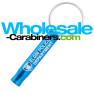 Laser Engraved Keychain Key Siren Safety Whistle - Caribbean Blue