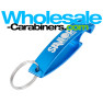 Large Logo Engraved Bottle Opener Keychain - The Wave - Caribbean Blue