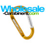 60mm Gold Carabiner - Laser Engraved Keychains