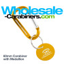 Carabiner and Medallion Tag Combo with Custom Engravings - Gold