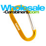 Customized 3.125-inch Gold Aluminum Carabiner Keychain