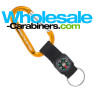 Custom Carabiner Engraved Keychains with Compass Straps - Gold