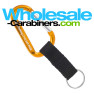 Custom Engraved Carabiners With Nylon Strap - Gold