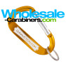 LogoBeener® Carabiner With Extra Wide Engraving Area - Gold