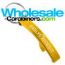 Arc Bottle Opener Keychain - Gold Colored Aluminum With Laser Engraving