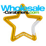Gold Star Shaped Carabiner With Custom Laser Engraving