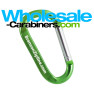 Green 80mm Carabiner With Custom Laser Engraving