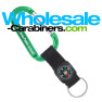 Carabiner Plus Compass Strap Custom Engraved Keychains - Green