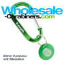 Wholesale-Carabiners.com Engraved Carabiner with Medallion Tag - Green