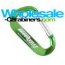 Hugely Engraved LogoBeener® Carabiners - Green