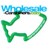 Green Fish Carabiner Keychain With Customized Laser Engraving